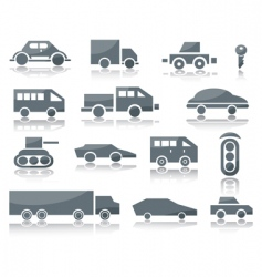 Icons of vehicles vector