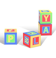 Play cubes vector
