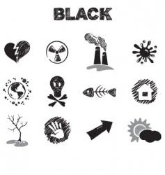 black theme vector image