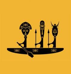 African warriors vector image