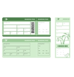 Boarding pass vector