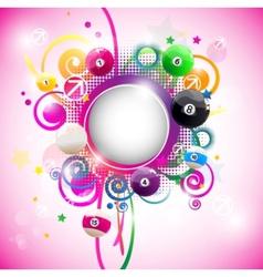 beautiful round multicolored vector image