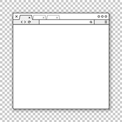 Opened browser window template past your content vector