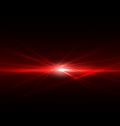 Abstract spark and flow light red on middle vector