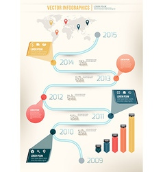 Abstract timeline infographic design workflow vector
