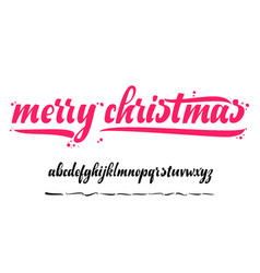 alphabet - merry christmas xmas badge with vector image