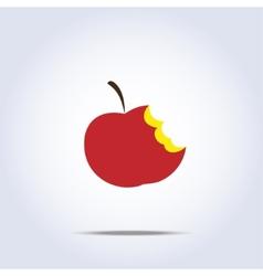 bitten apple icon vector image