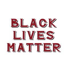 Black lives matter vector