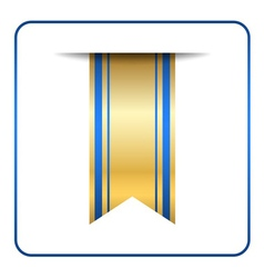 Blue bookmark banner gold vector