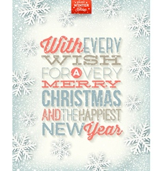 Christmas type design vector image vector image
