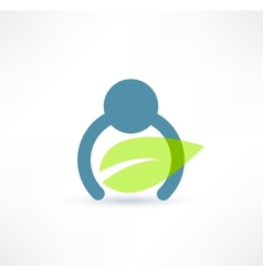 Eco man icon Logo design vector image