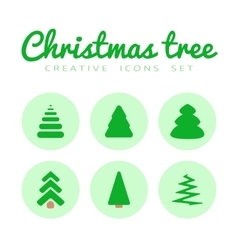 fir-tree icons set vector image vector image