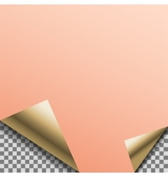 Folded copper foil blank note planner vector image vector image