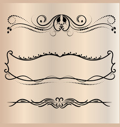 Frames retro for coloring decorative round vector