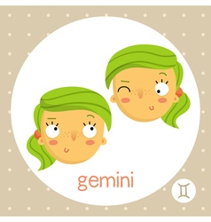 Gemini zodiac sign twin girls vector image vector image