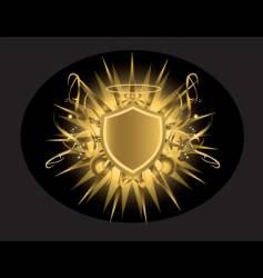 halo shield vector image