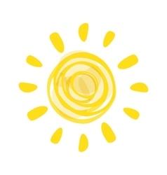 Hand drawn sun picture vector