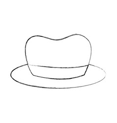Hat for men accessory old fashion vector