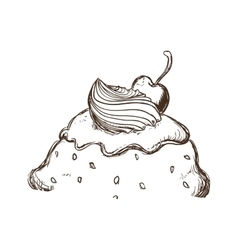 Ice cream sketch icon dessert and sweet design vector