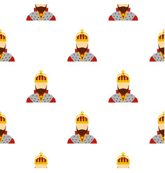 King pattern flat vector