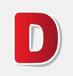 letter d sign design template element new vector image vector image