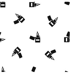 Lighter pattern seamless black vector
