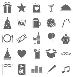 Party icons on white background vector