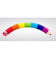 Rainbow Pencil vector image