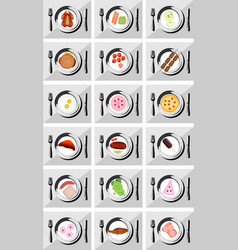 Restaurant icon set suitable for info graphics vector