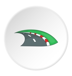 Road icon flat style vector