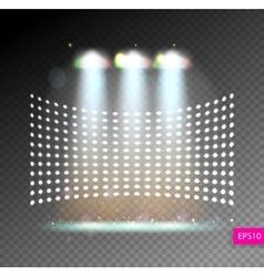 Scene illumination show bright lighting with vector