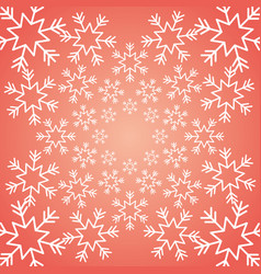 Shining snow winter christmas snowflake decoration vector