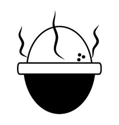 Soft boiled egg breakfast design outline vector