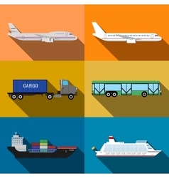 Transportation vehicles vector image