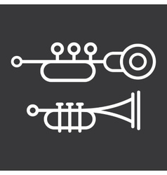 Trumpet Icons vector image vector image