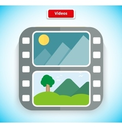 Video App Icon Flat Style Design vector image