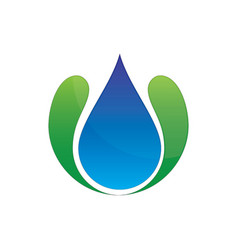 Wave waterdrop logo image vector