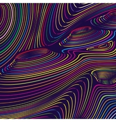 Wavy color line abstract background vector image
