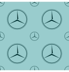 Mercedes benz emblem on blue background vector