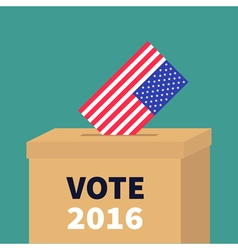 President election day vote 2016 ballot voting box vector