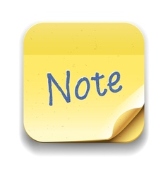 User interface note icon eps10 image vector