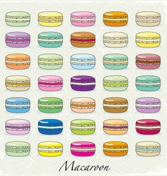 Colorful macaroon set vector