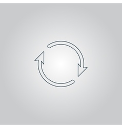 Arrow circle icon - cycle loop roundabout vector