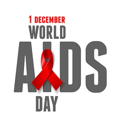 Aids awareness day vector
