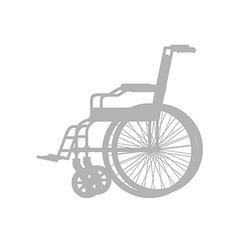 Wheelchair silhouette stroller with wheels for vector