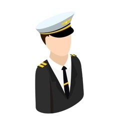 Pilot isometric 3d icon vector