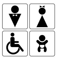 Wc signs set vector