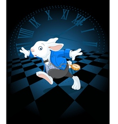 Running White Rabbit vector image