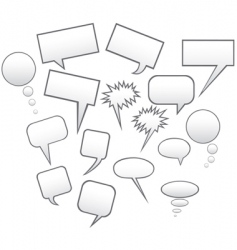 speech symbols vector image
