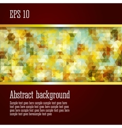 Abstract background with geometric elements vector image vector image